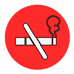 bodybuilding, fitness, health, line, no, smoke, smoking icon