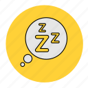 bodybuilding, cloud, dream, fitness, health, line, sleep icon