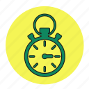 bodybuilding, fitness, health, line, stopwatch, timer, watch icon