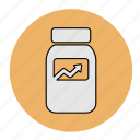 bodybuilding, fitness, health, healthy, line, suplemen, vitamin icon