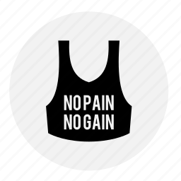 bodybuilding, fitness, gym, health, line, tee, tshirt icon