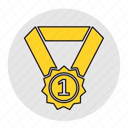 bodybuilding, champion, fitness, health, line, medal, winner icon
