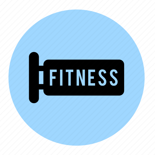 banner, fitness, gym, health, line, sign icon