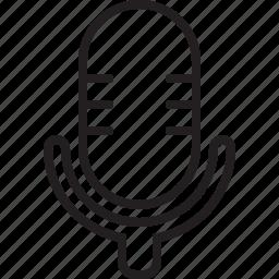 audio, microphone, music studio, podcast, radio show, record, record room, sing, speak, speech, talk, talk show icon