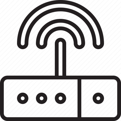 connection, modem, network, radio waves, router, signal, waves, web, wi-fi, wi-fi signal icon