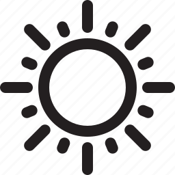 bright, brightness, day, forecast, hot, spring, summer, sun, sunny, warm, weather icon