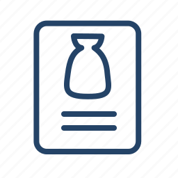 bank, blank, finance, form, paper, print, product icon