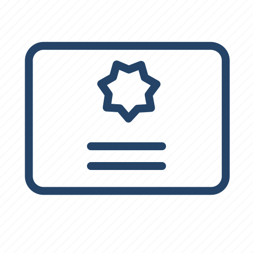 blank, certificate, document, form, paper, print, product icon