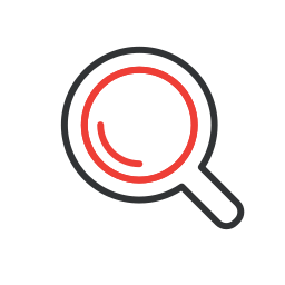 find, loupe, magnifying glass, search, zoom icon