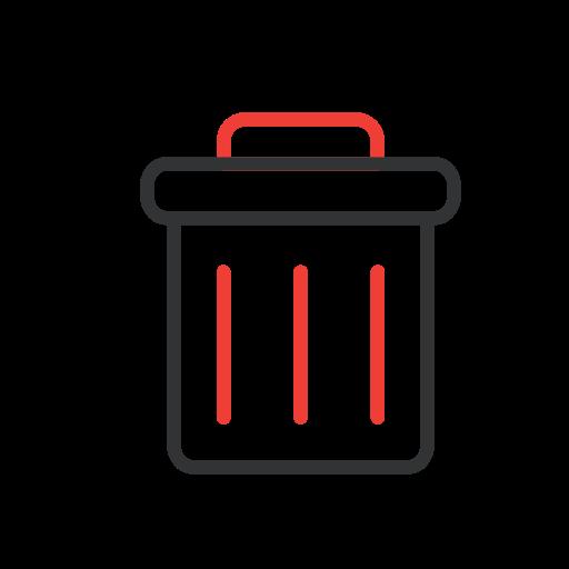 delete, trash, trash can, wastebin icon