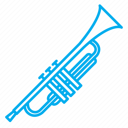 instruments, musical instruments, rhythms, singing, songs, tone, trumpet icon