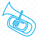 instruments, musical instruments, rhythms, singing, songs, tone, tuba icon