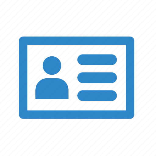 about business office identity line card icon about business office identity line card icon