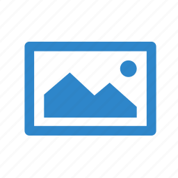 business, frame, image, line, office, picture icon