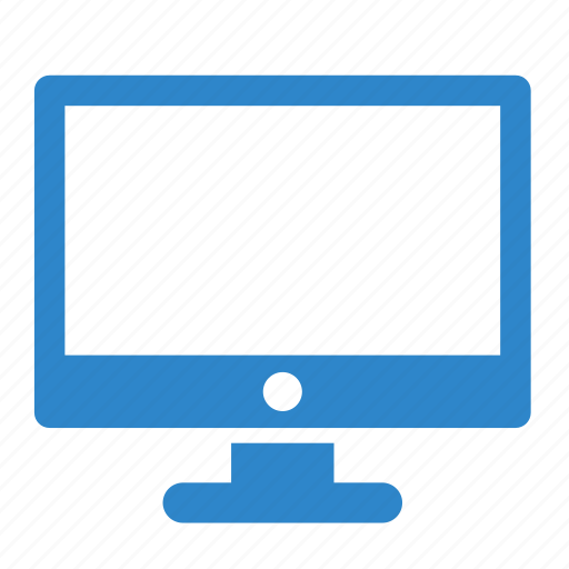 business, computer, line, monitor, office, work icon