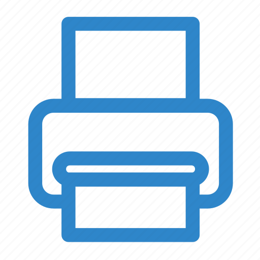 business, line, office, print, printer, publish icon