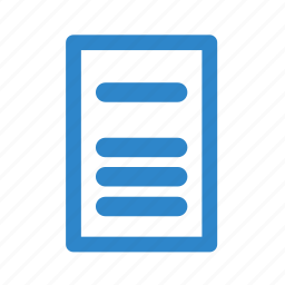 business, line, office, page, text icon