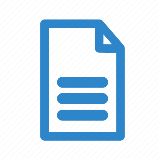 business, letter, line, office, page, text icon