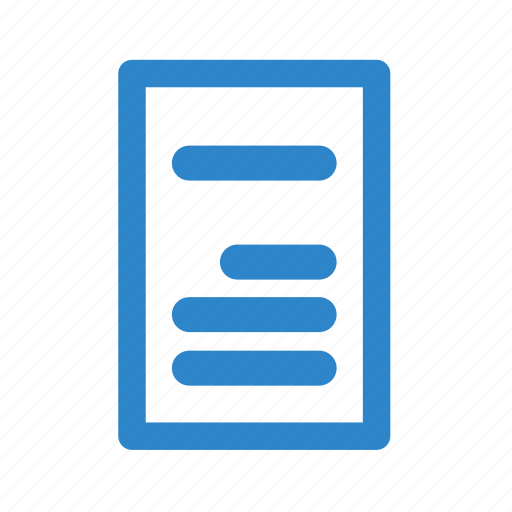 business, line, office, page, paragraph, text icon