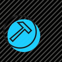 dig, hammer, mining icon