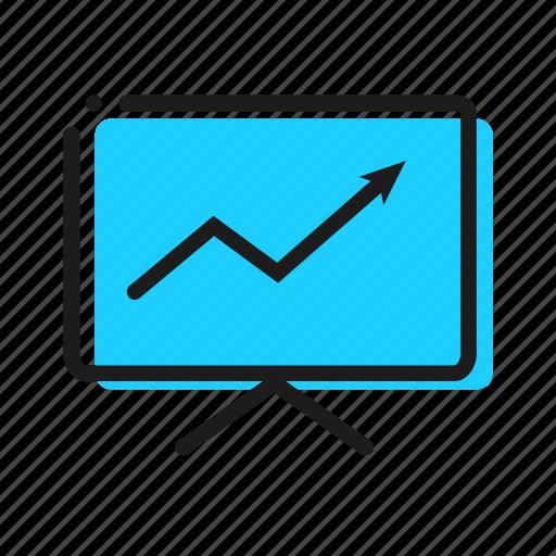 biznes, graph, stroke, table icon