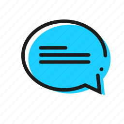 chat, cloud, talk icon