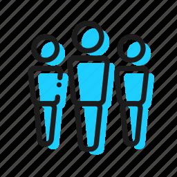 biznes, poeple, team icon