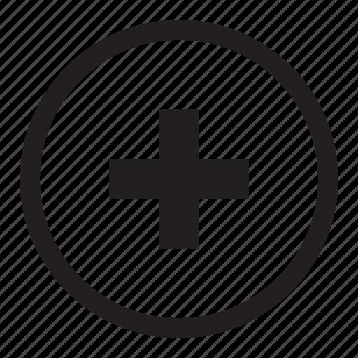 add, button, control, plus icon