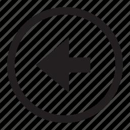 arrow, back, button, control, left, rewind icon