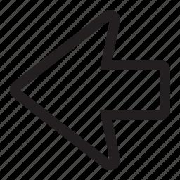 arrow, back, left, rewind icon