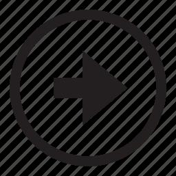 arrow, button, control, forward, go, right icon