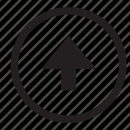 arrow, north, up icon