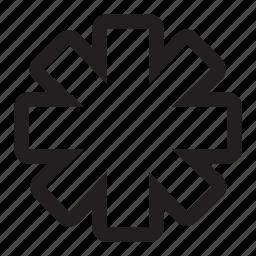 asterisk, star icon