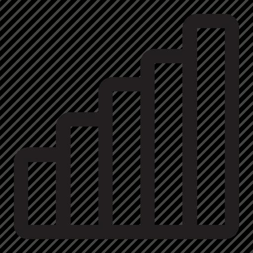 analytics, bar, chart, graph, growth, statistics icon