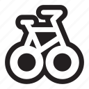 activities, bicycle, bike, commute, cycle, exercise, leisure, outdoors, race, sports, trails icon