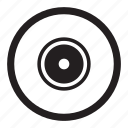 album, audio, cd, compact, disc, files, media, play, record, round, songs, storage icon
