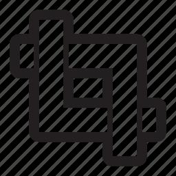 corners, crop, cut, photography, simple, tool, trim icon