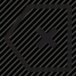cancel, delete, remove, undo icon