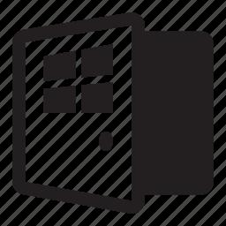 business, door, entrance, open, window icon