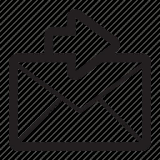 Arrow, email, forward, send, sending, sent icon | Icon ...