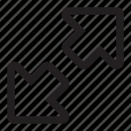 arrows, diagonal, expand, zoom icon