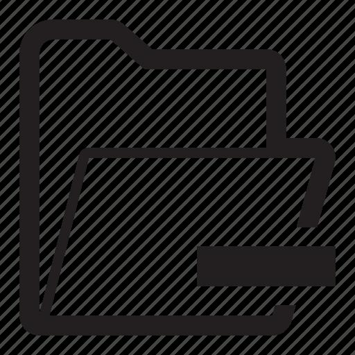 folder, minus, remove, subtract icon
