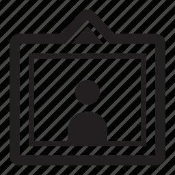 frame, person, portrait, profile icon