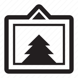 forest, frame, outdoors, pine, tree, wilderness icon