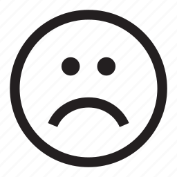 dislike, emoticon, frown, sad, upset icon