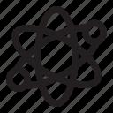 atom, discovery, genius, innovation, molecule, science icon