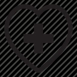 add, bookmark, favorite, friend, heart, like, love, plus icon