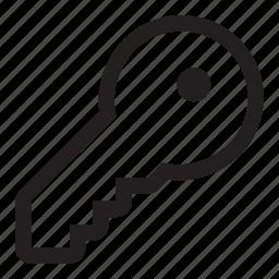 drive, key, lock, safety icon