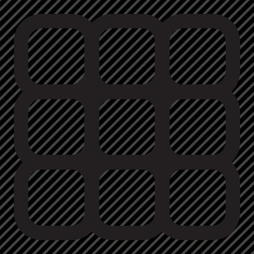 10-key, data, grid, keypad, keys, tiles icon