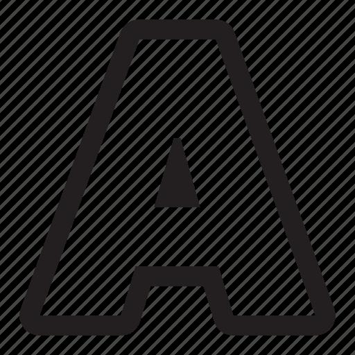 a, alphabet, letter, text icon